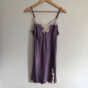 Victoria's Secret Purple Lace Trim Slip